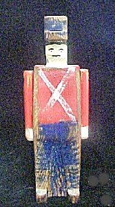 Vintage Wooden Folk Art Soldier (Image1)