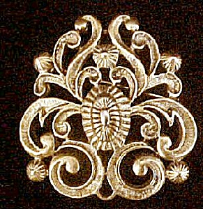 Vintage Floral Motif Style Pin (Image1)