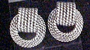 Textured Knot Earrings For Pierced Ears (Image1)