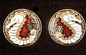 Pair Seahorse Earrings for Pierced Ears (Image1)