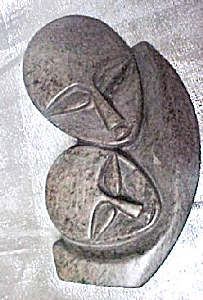 African/Shona Mother and Child Carving (Image1)