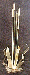 Cattails Gold-Toned Metal Sculpture (Image1)
