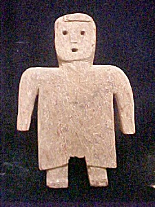 Primitive Carved Folk Art Wooden Figure (Image1)