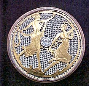 Antique Art Nouveau Metal Vent Cover (Image1)
