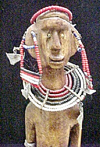 Maasai Wood Doll - Kenya/Tanzania, Africa (Image1)