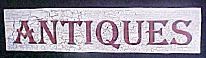 Wooden Antiques Sign - Weathered Design