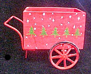Wood/Metal Holiday Wheel Cart (Image1)
