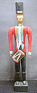 Folk Art Drummer - Wooden Soldier (Image1)