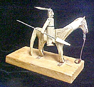 Blackfoot Equestrian Rider - Bone w/Stand (Image1)