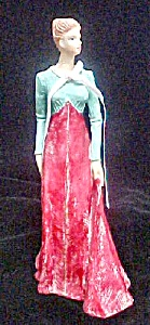 Soapstone Figure Of Lady In Period Dress