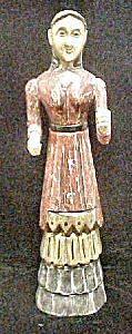 Carved Folk Art Style Female In Period Dress (Image1)