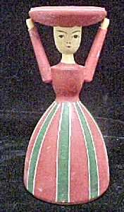 Vintage Sweden Folk Art Wood Figure (Image1)