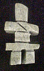 Inukshuk By Johnny Nooveya - Signed And Dated
