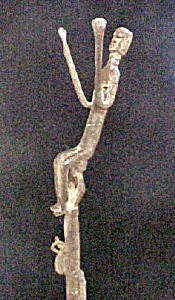 Older Bamana Iron Stick Figure w/Bells (Image1)
