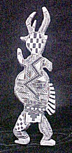 Native American Stone Carved Horned Figure (Image1)