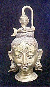 Asian Indian Male Brass Finished Head (Image1)