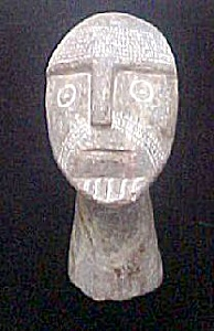 Head And Neck Stone Sculpture Of Man