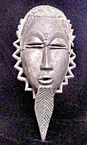 Wooden Male African Mask (Image1)