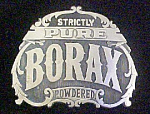 Vintage Solid Brass Borax Belt Buckle
