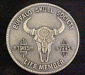 Buffalo Skull Society Metal Belt Buckle (Image1)