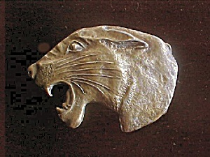 Mountain Lion Belt Buckle - Brass Toned (Image1)