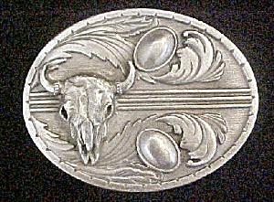 Buffalo Skull Western Belt Buckle - Siskiyou (Image1)