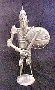 Vintage Metal Knight Figure W/armour