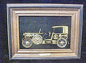 Vintage Metal Art 1933 Lincoln Convertible