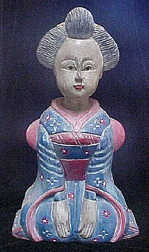 Japanese Carved Wooden Figure (Image1)