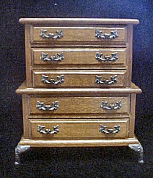Wood Jewelry Box - Queen Ann Highboy Style (Image1)