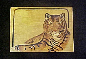 Vintage Asian Tiger Lacquered Box