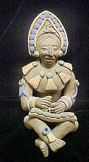 Mesoamerican Style Seated Male Figure