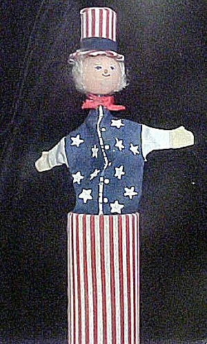 Vintage Toy Push Up Figure - Uncle Sam (Image1)