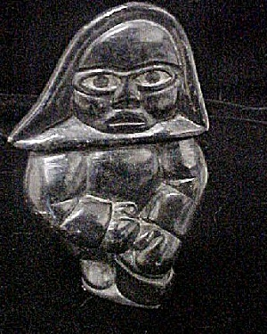 Older Inuit Hooded Male Figure