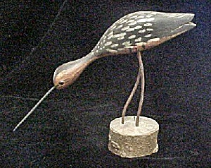Walking Curlew Shorebird - Hand-Carved (Image1)