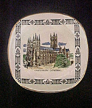 Vintage Canterbury Cathedral Mini Plate (Image1)
