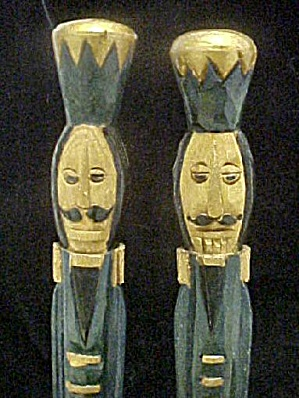 Two European Wood Carved Soldiers