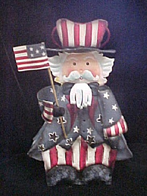 Uncle Sam Metal Figure