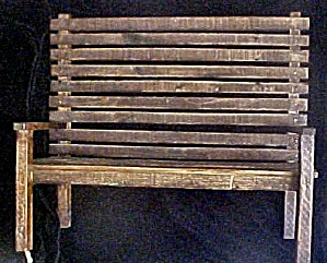 Wood Slat Doll's/Bear Primitive Bench (Image1)