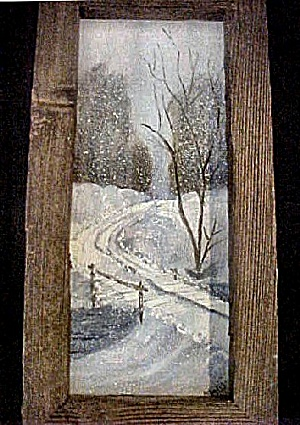Painting - Snowfall In The Country