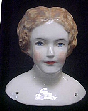 Vintage Ceramic Lady's Full Doll's Head