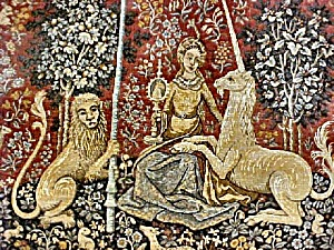 Lady and Unicorn Tapestry - Represents Sight (Image1)