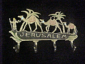 Jerusalem Souvenir - Camel Train Rack W/hooks