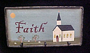 Painted Faith Wall Art w/Hook Pegs (Image1)