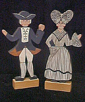 Wooden Colonial Couple - Hand Made
