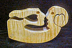 Wood Carving - Man and Woman - Signed (Image1)