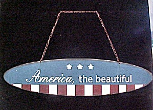 Vintage America, The Beautiful Metal Plaque