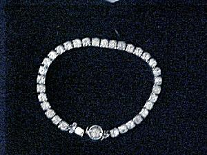 Silver-Toned Rhinestone Tennis Bracelet (Image1)