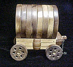 Wooden Covered Wagon Coaster Set (Image1)