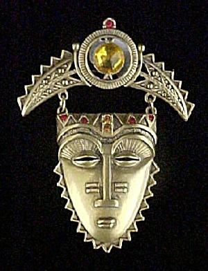 Exotic Mask Style Pin - Signed AVON (Image1)